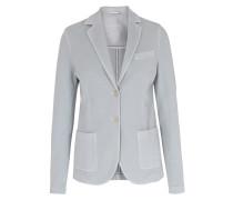 Slim Fit Jersey-Blazer Hellgrau