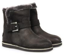 Gefütterte Boots Mit Riemen-detail Black
