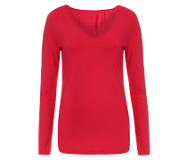 Langarmshirt aus Modal-Stretch Cherry Red