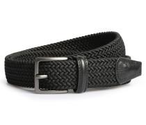 Gürtel aus geflochtenen Textil-Bändern Black