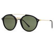 Sonnenbrille Matt Black Green