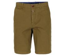 Canvas-Shorts Tropical Green Khaki