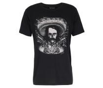 Baumwoll-shirt Mit Skull-print Black