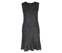 Kleid Mit Volantsaum Und Leo-lurex-muster