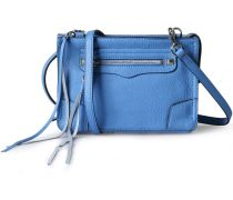 Ledertasche Regan Crossbody Denim Blue Silver