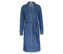 Denim-Kleid aus Baumwolle Dunkelblau