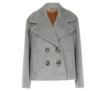 Woll-mix Cabanjacke Light Grey