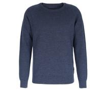 Wollpullover Rundhals Indigo Blue Mit Teflonbeschichtung