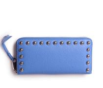 Geldbörse Ava Zip Denim Blue Silver