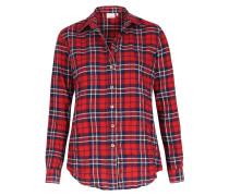 Kariertes Baumwoll-hemd Rot/navy