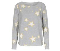 Leichter Sweater Im Baumwoll-mix Mit Sternen-print