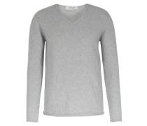 Cashmere-pullover Mit V-ausschnitt Light Grey