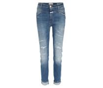 High Waist Jeans Skinny Pusher Super Stretch Blau