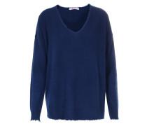 Cashmere-Pullover V-Neck Deep Blue