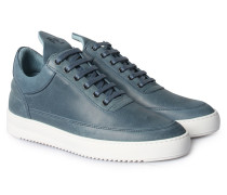 Sneaker Low Top Color Stitching Blue