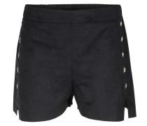 Shorts In Veloursleder-optik Mit Metallic-sternen
