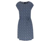 Gemustertes Kleid Fluid Dress Dunkelblau