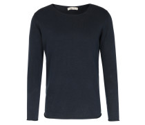 Baumwoll-Pullover mit Rollkante Navy