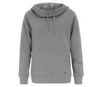 Kapuzen-Sweater im Baumwoll-Woll-Mix Grau Melange