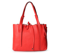 Ledershopper mit Extra-Tasche Rot