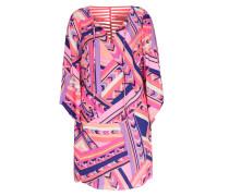 Seidenkleid Haven Dress Neon Pink