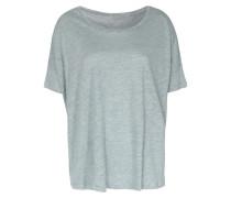 Shirt Im Leinen-seiden-mix In Skyline Chine