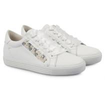 Sneakers Town Mit Schmuck-details Calf Bianco