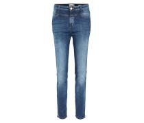 High Waist Jeans Skinny Pusher Easy Blue Wash