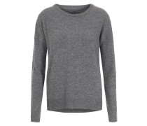Caschmir-Pullover mit Sternpatches Gris Chine