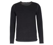 Baumwoll-pullover Mit Kontrast-details Black