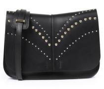 Crossbody-Bag mit Nietendetails Schwarz