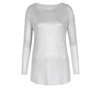 Viskose-Langarmshirt mit Lurex Silver