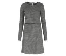 Kleid Aus Viskose-stretch Mit Hahnentritt-muster