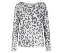 Leichter Sweater Mit Leo-print Und Rollsaum