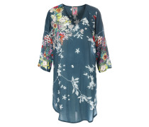 Tunika Ficher Blouse mit floralem Print Bottle Green