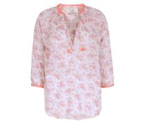 Baumwoll-Bluse Vesner The Tunik Rosé mit Neondetails
