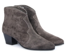 Veloursleder-ankle-boots Im Western-stil Bistro
