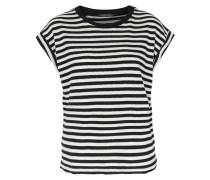 Gestreiftes Shirt Malaika Offwhite/schwarz