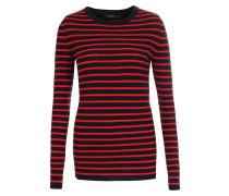 Pullover mit Streifen Dunkelblau/Rot