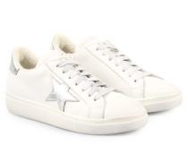 Sneakers Vitello Bianco Silber