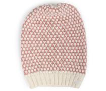 Beanie-mütze Aus Merino-alpaka Mix White Rose
