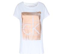 Shirt Teri Mit Print Weiß