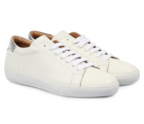 Sneakers Silber Metallic Details White