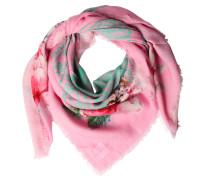 Baumwoll-tuch Mit Paisley-print Rosa