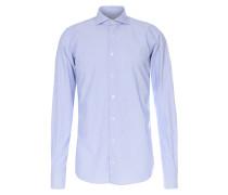 Business-Hemd Davis mit Muster Blau/Weiß