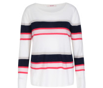 Gestreifter Cashmere-pullover Offwhite