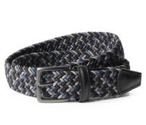 Gürtel aus geflochtenen Textil-Bändern Multi Grau/Schwarz
