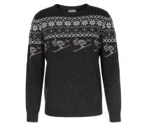 Norweger-pullover Aus Merinowolle Anthrazit