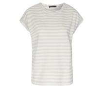 Baumwoll-shirt Mit Lurexstreifen Offwhite