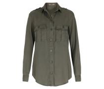Bluse Im Military-stil Khaki